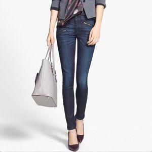 Rag & Bone Kensington Moto Zipper Skinny Jean